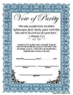 free printable purity certificates