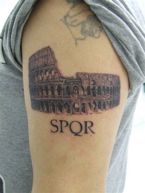upper arm tattoo quotes great small italian colosseum with a quote tattoo on upper