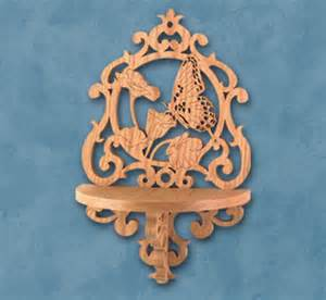 butterfly shelf scroll saw pattern woodworking