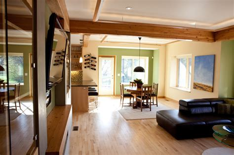 Reclaimed Wood Living Room by Living Room With Reclaimed Wood Beams