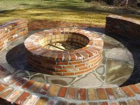 Brick Firepit Brick Firepit With Brick Seating Since I M Gonna All This Brick Backyard Patio