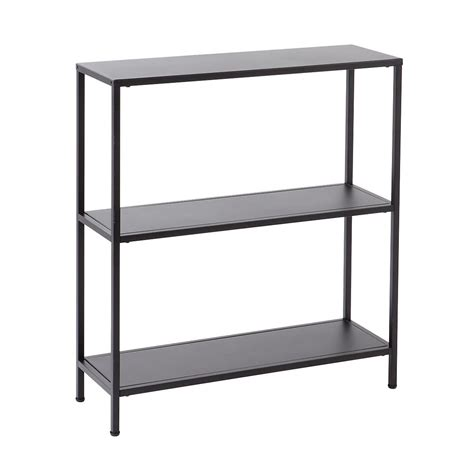 3 tier bookshelves 100 folding bookcase black steel 3tier bookcases