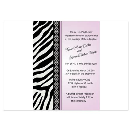 Animal Print Wedding Invitations animal print zebra wedding invitations invitatio by