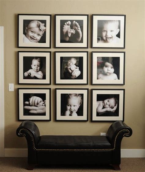 ideas for displaying pictures on walls 26 gallery wall ideas with same size frames shelterness