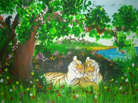 tigers home resides in peace save the tiger painting