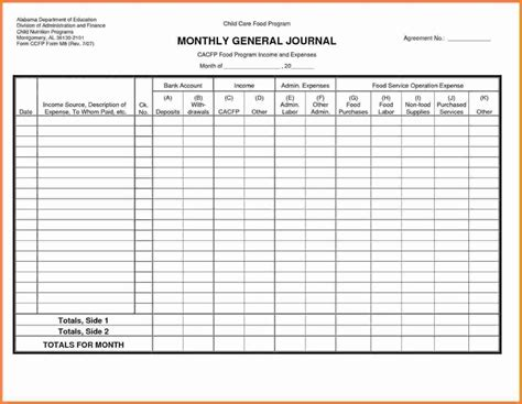Free General Ledger Template Exle Of Spreadshee Free General Ledger Paper Template Free Ledger Sheet Template Free