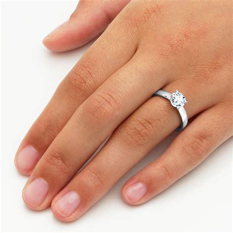 Verlobungsringe Diamant by Verlobungsring Modern In 18k Wei 223 Gold Mit Diamant 1 00ct