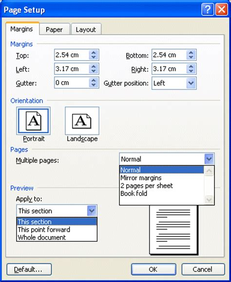 microsoft word normal layout microsoft word page layout and printing