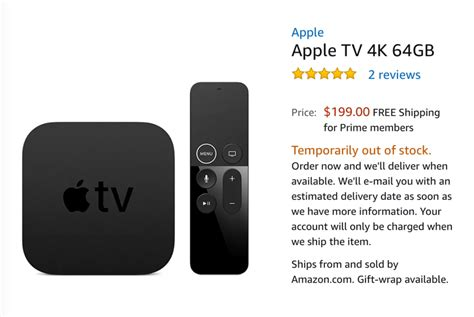 apple tv 4k cold war thaws apple tv 4k listed on amazon then pulled