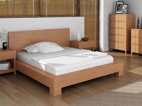 simple beds simple wood bed frame ideas homesfeed