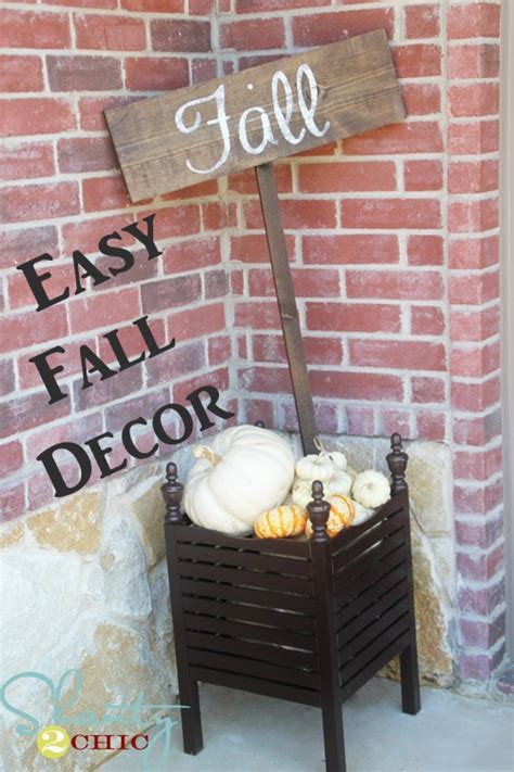 Easy Fall Decor by Fall Sign Shanty 2 Chic