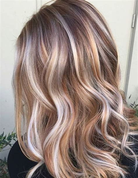 white frosting on medium blonde hair multi toned brown bob with low lights hairstyle ideas 2017