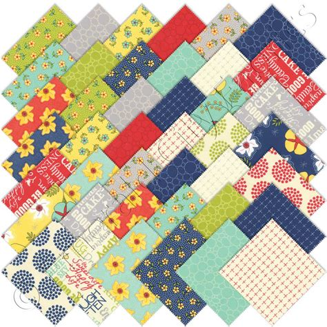Moda Quilt Fabric by Moda The Sweet Prints Charm Pack Emerald City Fabrics