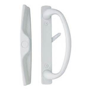 Sliding Glass Door Handles With Locks Sliding Glass Door Handle In White Finish Fits 3 15 16 Quot Screwholes Durable