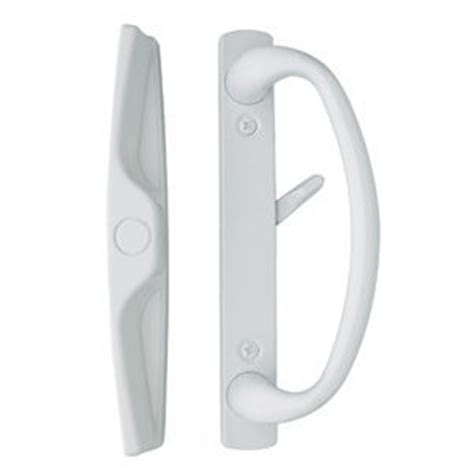 Sliding Glass Door Locks And Handles Sliding Glass Door Handle In White Finish Fits 3 15 16 Quot Screwholes Durable