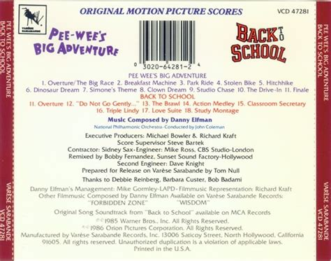 danny elfman back to school film music site pee wee s big adventure back to school