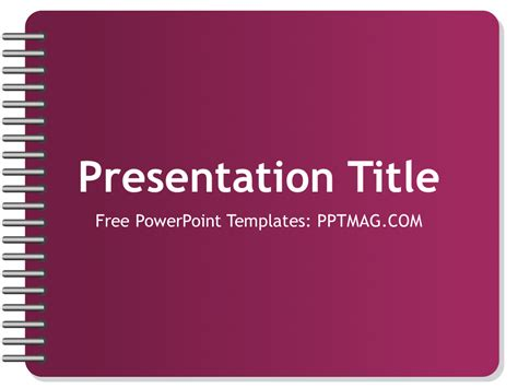 powerpoint template notebook free notebook powerpoint template pptmag