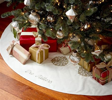 gold silver tree skirt pottery barn