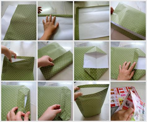 How To Make A Paper Bag Out Of Wrapping Paper - teh tarik junction how to make a paper bag