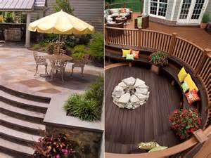 Outdoor standoff decks vs patios house counselor