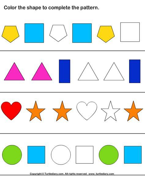 shape pattern questions shape pattern worksheets for kindergarten