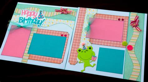 12x12 scrapbook layout kits 12x12 birthday scrapbook page kit 12x12 premade birthday