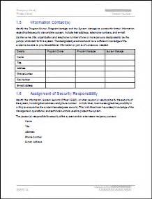 Information Security Plan Template by Security Plan Template