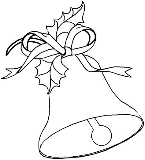coloring pages of christmas bells free printable bell coloring pages for kids