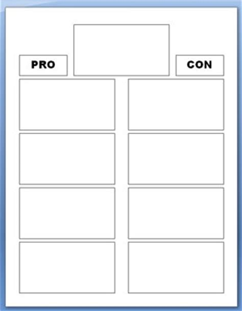 pro con list template 21 pros and cons worksheet template pros and cons blank