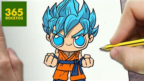 imagenes de goku kawai como dibujar goku ssj dios kawaii paso a paso dibujos