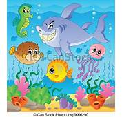 Vector Clipart Of Image With Undersea Theme 3