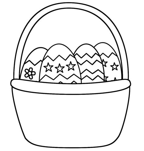 easter basket coloring pages coloringsuite com