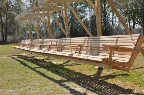 1000 ideas about outdoor swings outdoor wooden porch swing plans