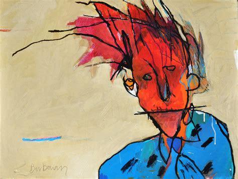 panting at t 234 te sur by michel berberian painting board acrylic portrait brut