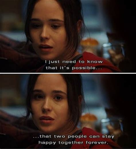film quotes happy juno quote by ellen page on two people being happy