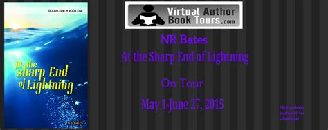 at the sharp end of lightening book tour room with books