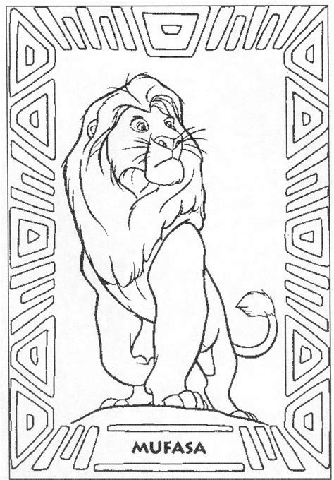 lion king mufasa coloring pages lion king coloring pages mufasa