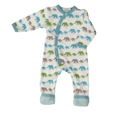 Piyama Blue Elephants by Pyjama Kruippakje Elephant Blue Mix Pigeon De Luierhoek