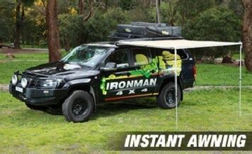 ironman instant awning ironman led instant awning 1 4m 2 0m iawning004