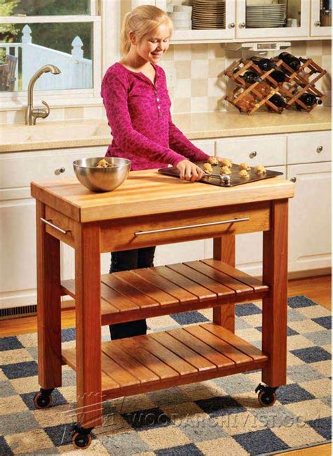 portable kitchen island plans woodarchivist