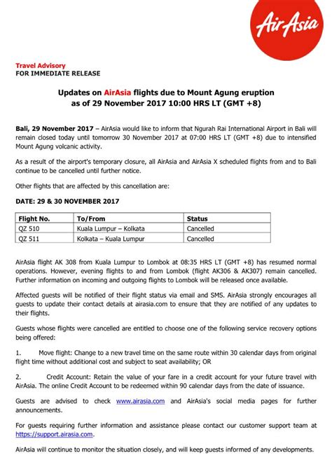 airasia account airasia on twitter quot travel advisory updates on airasia