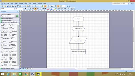 membuat flowchart di visio 2007 membuat flowchart menggunakan microsoft visio 2007 kuas
