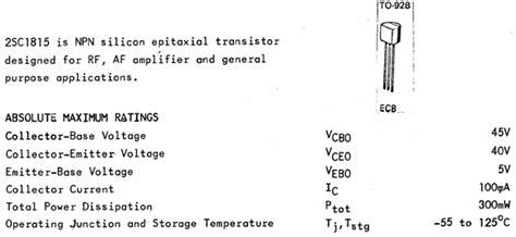 Sc1815 Sc 1815 2sc1815 C1815 General Purpose Transistor Murah 2sc1815 datasheet pdf datasheetq