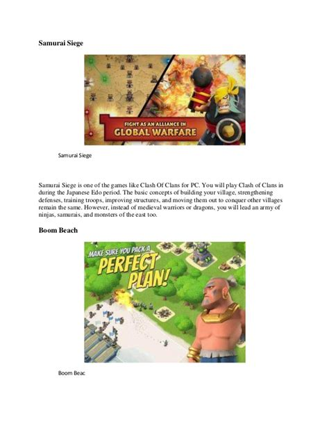 like clash of clans top 7 like clash of clans for pc