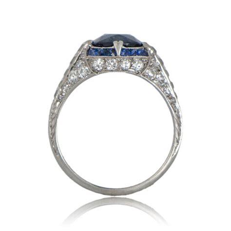 antique deco sapphire engagement ring circa 1925