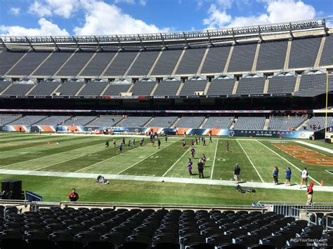 section 105 soldier field soldier field section 105 chicago bears rateyourseats com