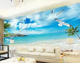 beach wall murals cheap online get cheap beach wallpaper murals aliexpress com