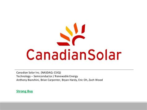 Mba Renewable Energy Canada by Equity Research Canadian Solar Nasdaq Csiq