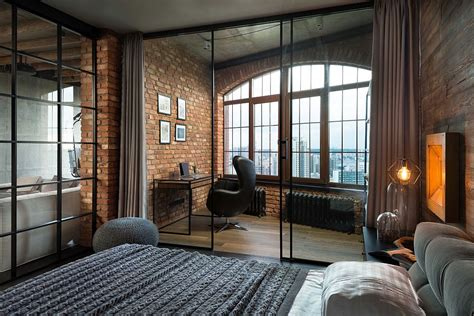 bedroom warehouse high end bachelor pad design stunning loft in kiev by martinarchitects