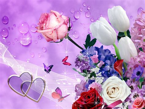 flower hd images with happy new year san valentino dillo con un fiore